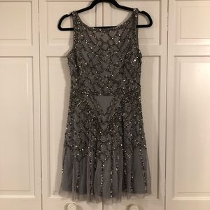 Aidan Maddox sequin cocktail dress size 4